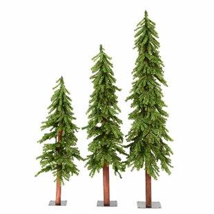 Set Of 3 Alpine Trees Wayfair