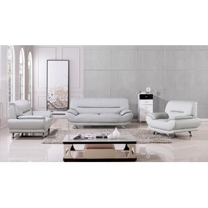 white leather living room set.  Grey Living Room Sets You ll Love Wayfair
