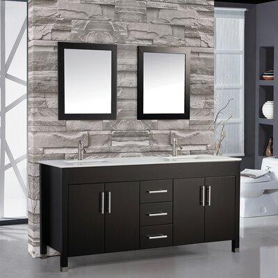 """Custom Bathroom Vanities Ct brayden studio denault 84"""" double sink bathroom vanity set"""
