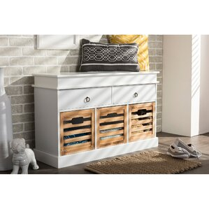 Baxton Studio Rochefort British Storage Bench Se..