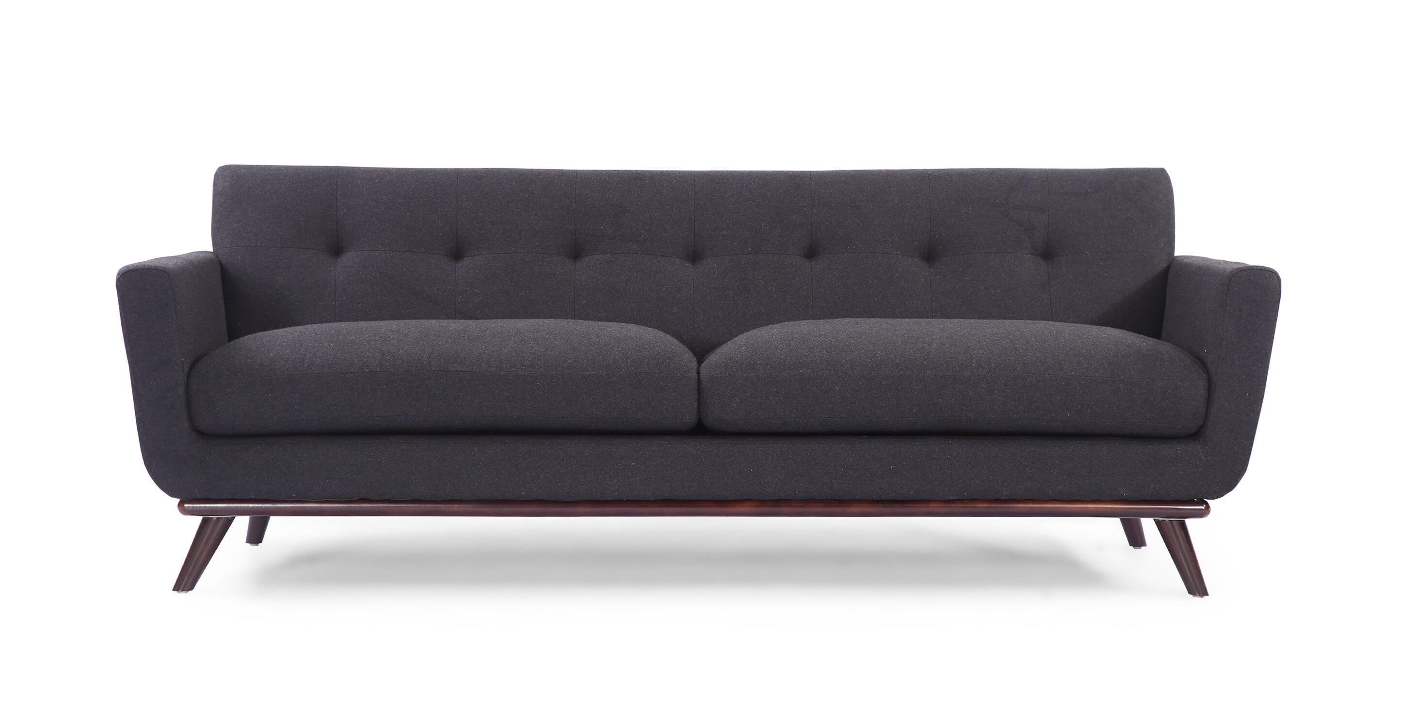 Corrigan studio luther mid century modern vintage sofa reviews wayfair