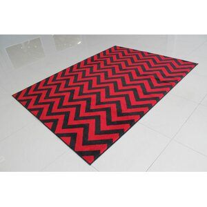Black/Red Area Rug