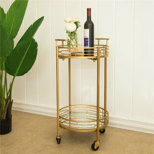 Howden Metal Mirrored Bar Cart