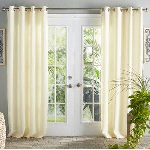 Ponce De Leon Solid Room Darkening Grommet Single Curtain Panel