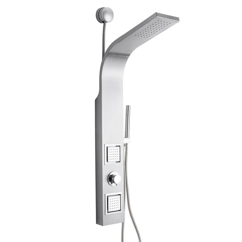 AKDY Dual Shower Head Shower Panel & Reviews | Wayfair