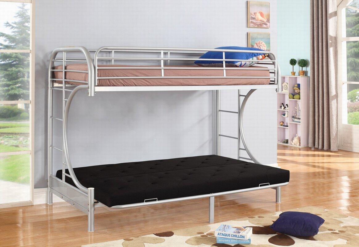 jordan twin over c futon bunk bed nathanielhome jordan twin over c futon bunk bed  u0026 reviews   wayfair  rh   wayfair