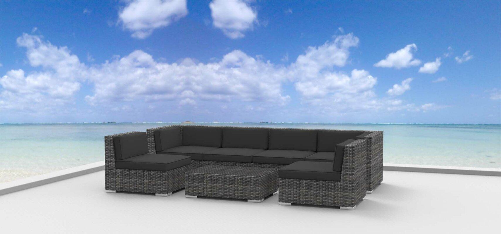 Urban Furnishings Mason 7 Piece Sectional Set With