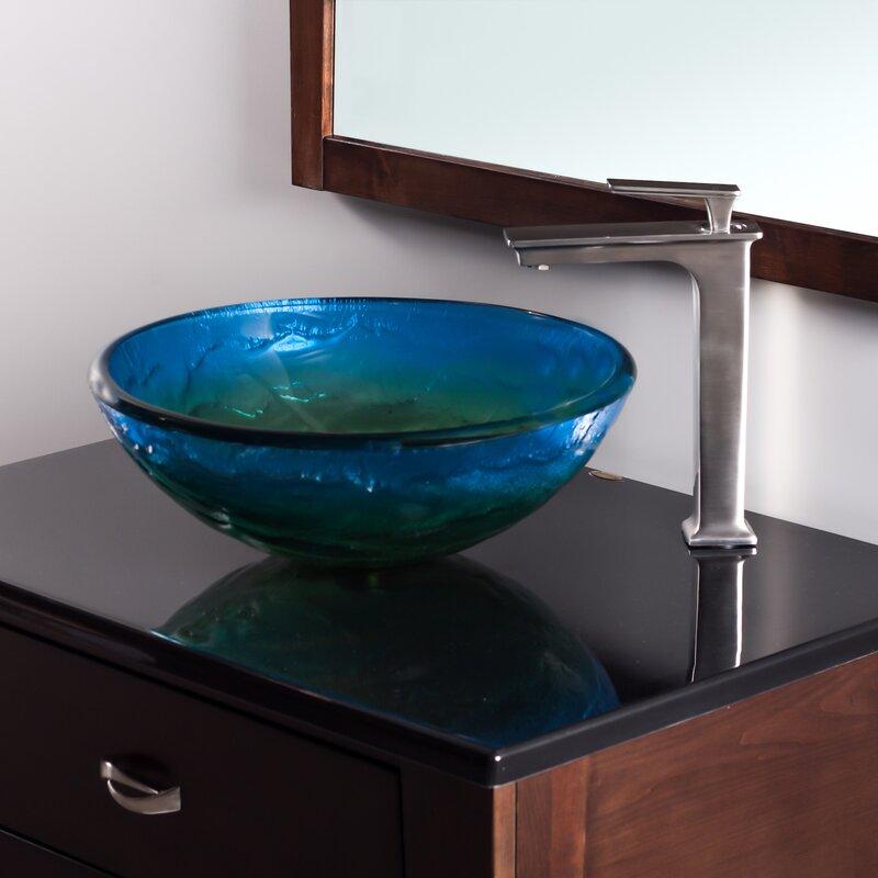Novatto Mare Glass Circular Vessel Bathroom Sink Amp Reviews