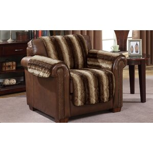 Luxury Box Cushion Armchair Slipcover by Loon Peak