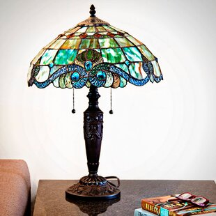 small stained glass lamps wayfair