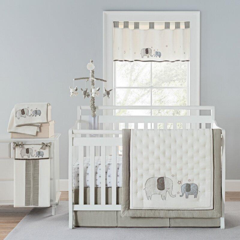 Greyleigh Arcola Elephant Baby Walk 4 Piece Crib Bedding Set Reviews Wayfair