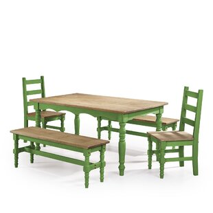 Pinard 5 Piece Solid Wood Dining Set