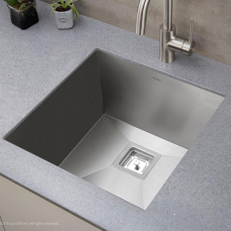 Undermount Kitchen Sink With Drainer Pax 185 x 185 undermount kitchen sink reviews joss main pax 185 x 185 undermount kitchen sink workwithnaturefo