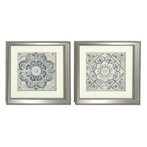 2-Piece Polystone Framed Print Set (Set of 2)