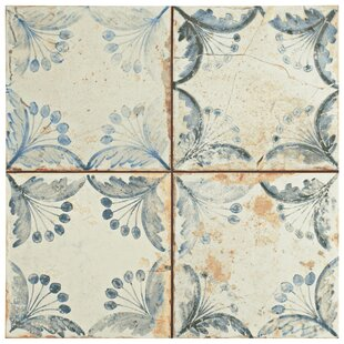 Floor Tiles Joss Main - 13x13 white ceramic floor tile