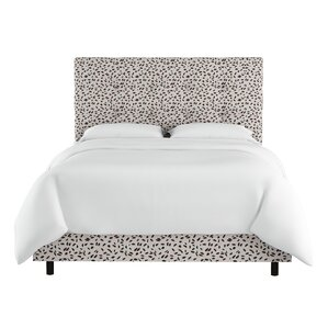 Grays Ferry Neo Leo Tufted Upholstered Panel Bed by Varick Gallery