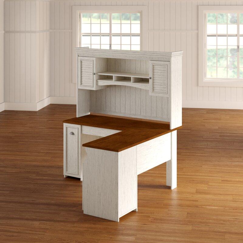 Beachcrest Home Oakridge L-Shaped Executive Desk With