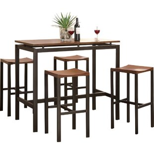 Modern bar pub tables allmodern swigart 5 piece pub table set watchthetrailerfo