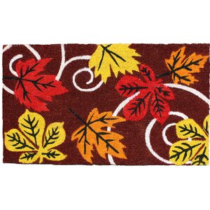 Harvest Leaves and Swirls Doormat