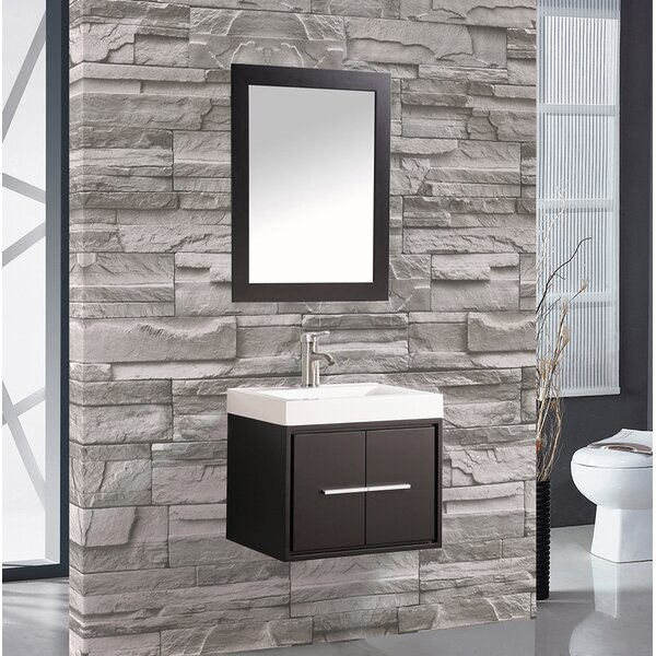 Orren Ellis Peirce 30 Single Floating Bathroom Vanity Set With Mirror Wayfair