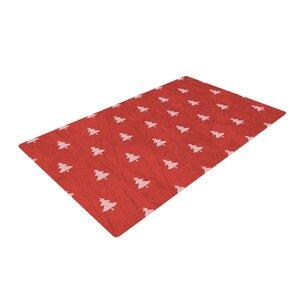 Snap Studio Pine Pattern Maroon/Red Area Rug