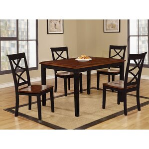 Baum Two Tone Solid Wood 5 Piece Dining Set