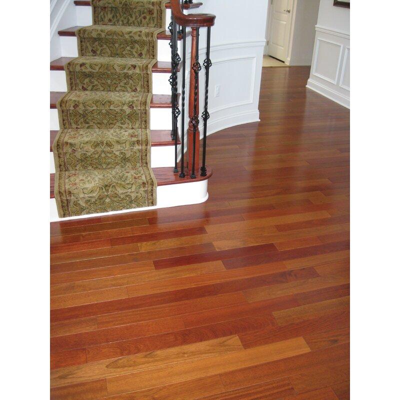 Exotic 3 5 8 Solid Brazilian Cherry Hardwood Flooring In Natural