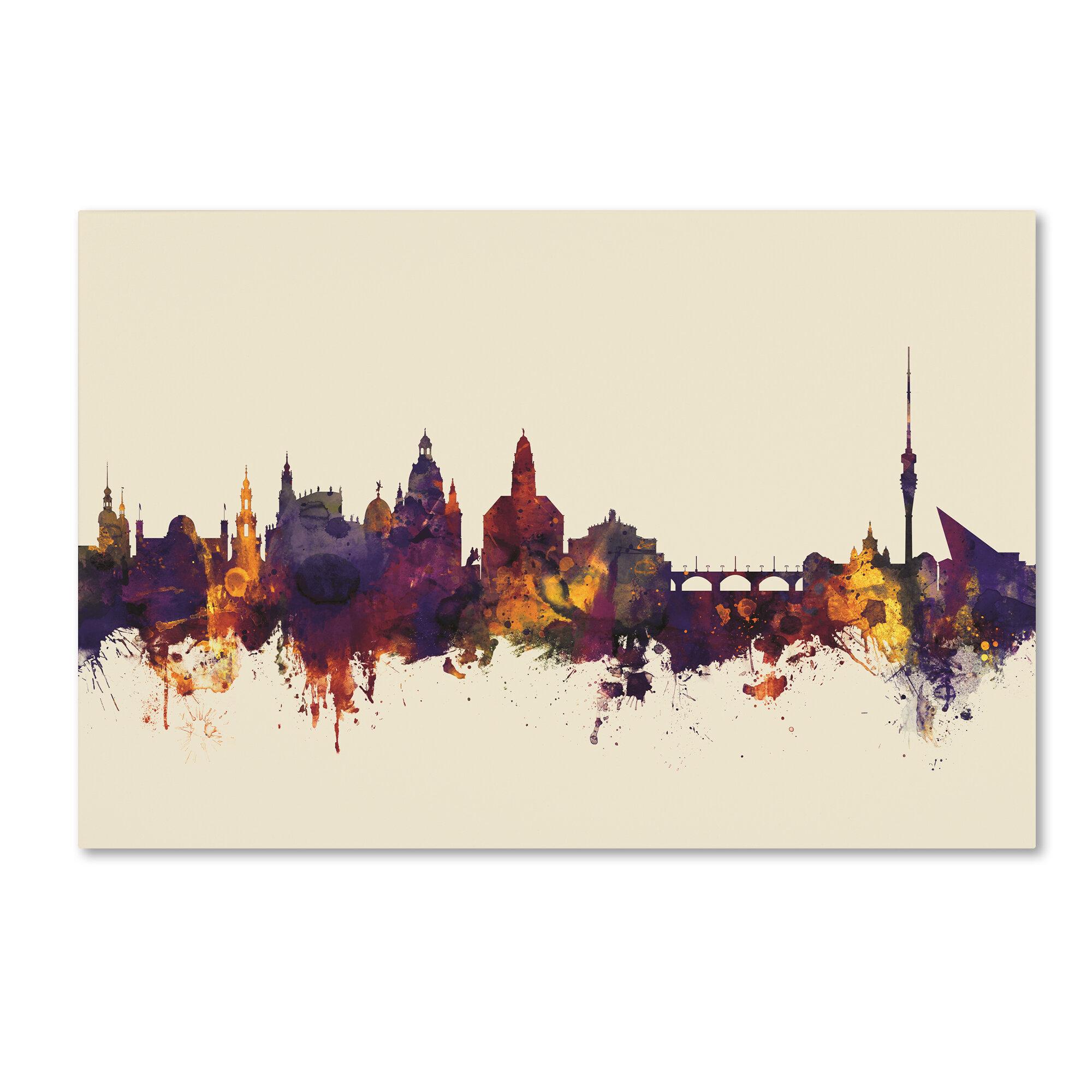 Wunderschön Skyline Dresden Beste Wahl Trademark Art
