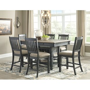 Ventanas 7 Piece Counter Height Solid Wood Dining Set