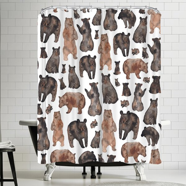 East Urban Home Elena Oneill Watercolor Bears Shower Curtain