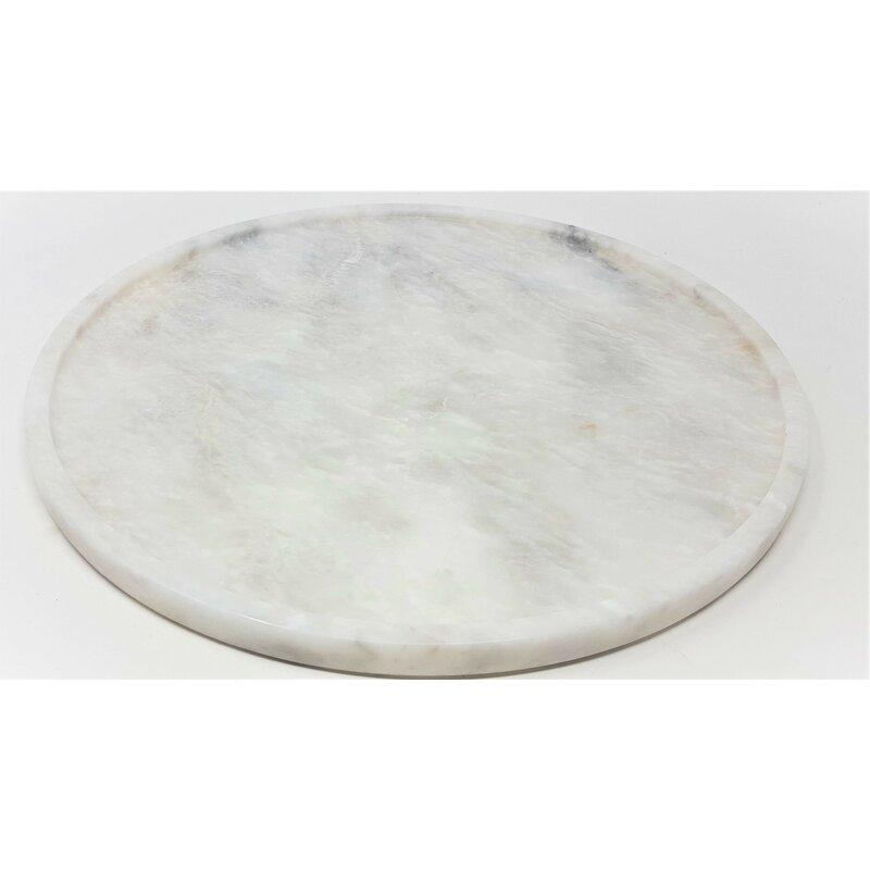 Alcott Hill Oakengates Powder Honed Marble Round Bathroom Accessory