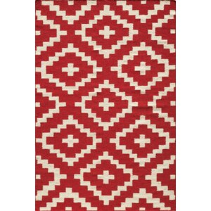 Hagler Hand-Woven Red Area Rug
