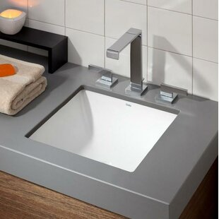Vitreous China Square Undermount Bathroom Sink