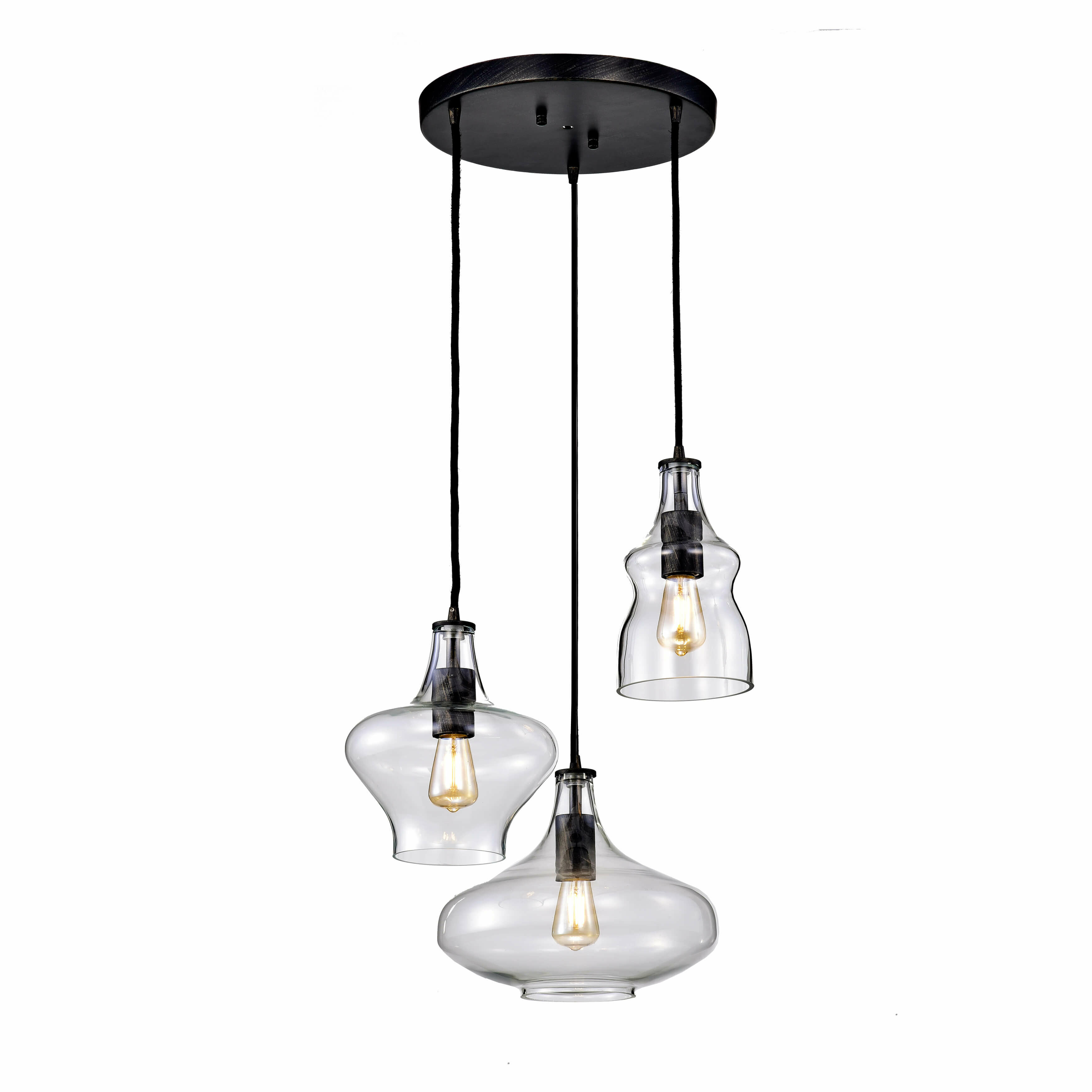Gracie oaks rison 3 light cluster pendant wayfair