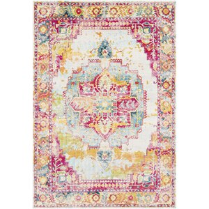 Tillamook Rose/Bright Pink/Sky Area Rug