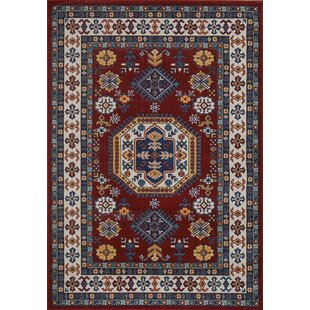 Gillen Medallion Persian Formal Traditional Red Blue Area Rug