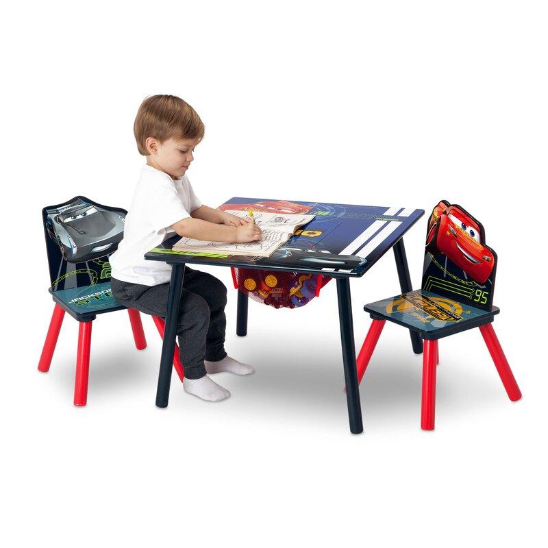 Disney/Pixar Cars Kids 3 Piece Square Table and Chair Set  sc 1 st  Wayfair & Delta Children Disney/Pixar Cars Kids 3 Piece Square Table and Chair ...