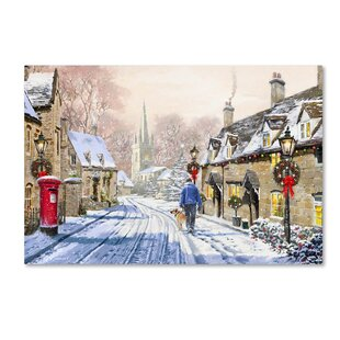 christmas village x2 print on canvas - Animated Christmas Village