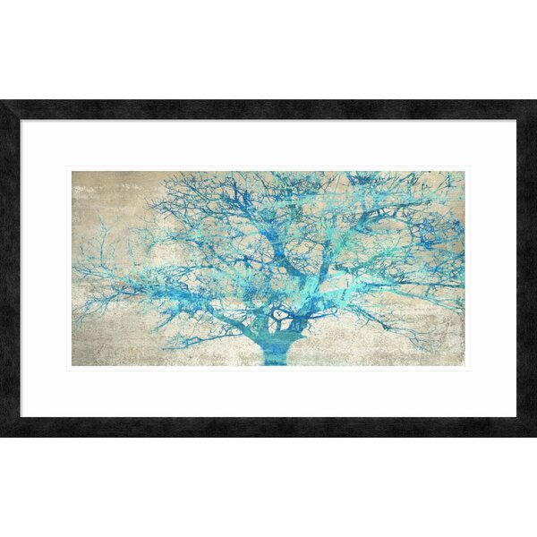 Global Gallery \'Turquoise Tree\' by Alessio Aprile Framed Graphic Art ...