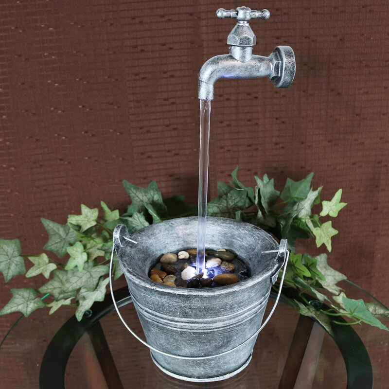 SunnyDaze Decor Floating Faucet Indoor Tabletop Water Fountain with ...