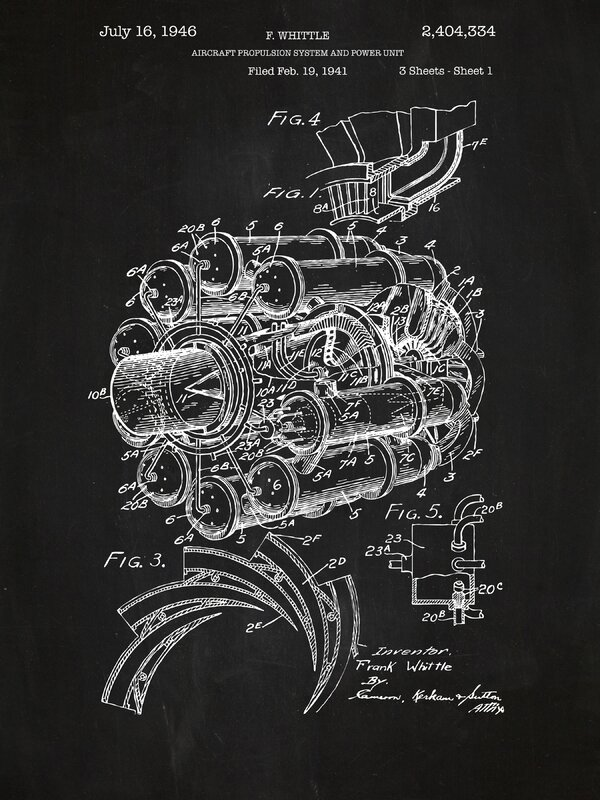 Inked and screened airplane engine blueprint graphic art reviews airplane engine blueprint graphic art malvernweather Images
