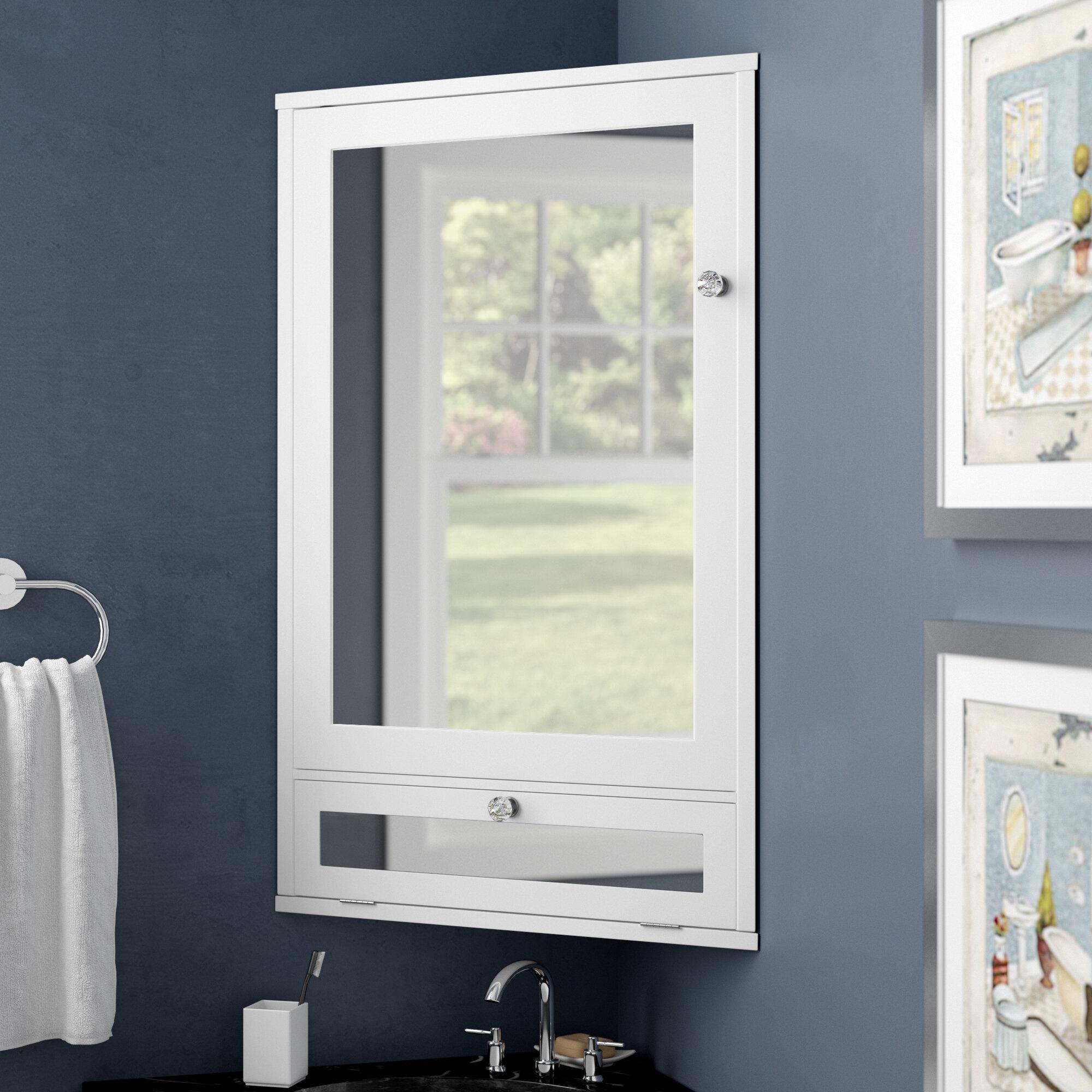 Red Barrel Studio Lipson 22 W X 34 H Corner Mount Medicine Cabinet Reviews Wayfair