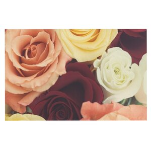 Libertad Leal 'Vintage Roses' Doormat