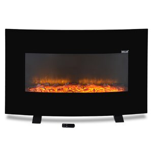 Adjustable Wall Mount Electric Fireplace with Stand by Della
