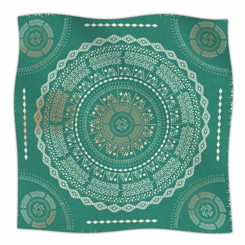 East Urban Home Famenxt Mint Medallion Mint Pattern Fleece Blanket Cool Fleece Blanket Pattern