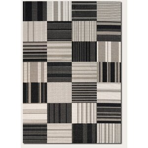 Marche Onyx/Ivory Indoor/Outdoor Area Rug