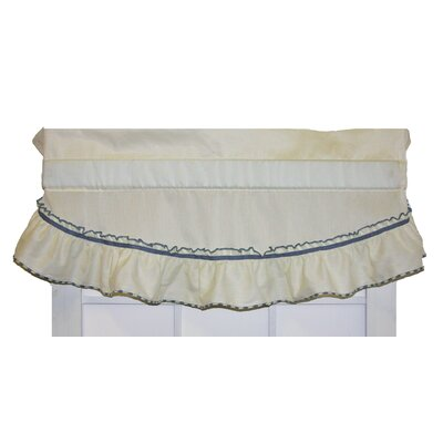 Hower 43 Country Ruffled Filler Valance August Grove Color: Slate, Rod Pocket Size: 1.5