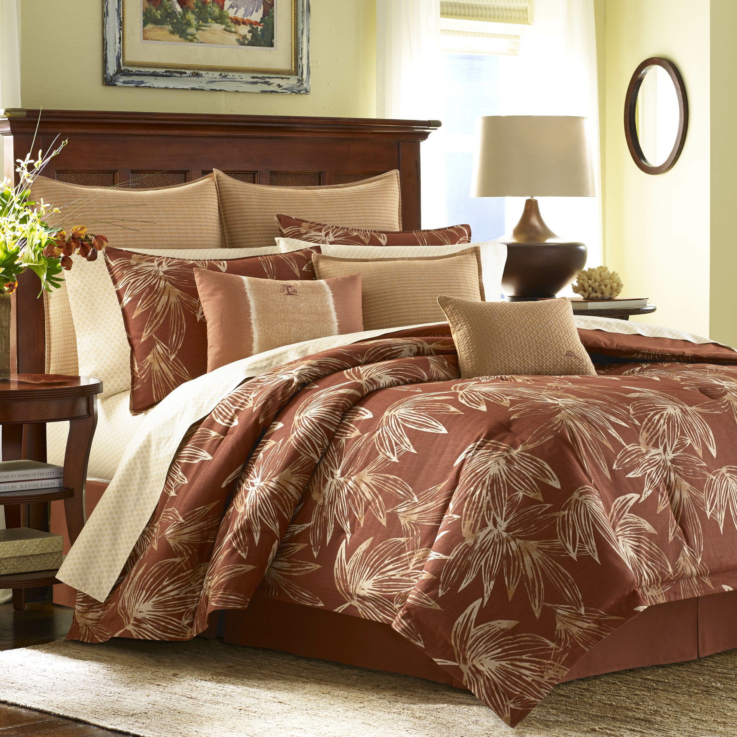 size piece and bedding set bedroom rust damask jacquard gray croscill full burgundy beige cream comforter plaid of u superb ease red curtains style queen fuchsia alyssa by brown with