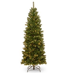 north valley pencil green spruce trees artificial christmas tree - Pencil Christmas Tree