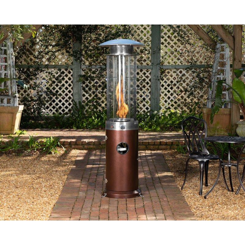 Etonnant Spiral Flame 40,000 BTU Propane Standing Patio Heater